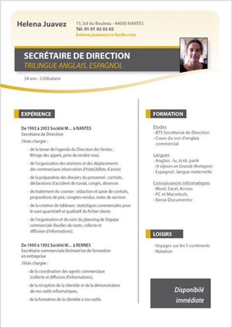 modele cv responsable comptable document