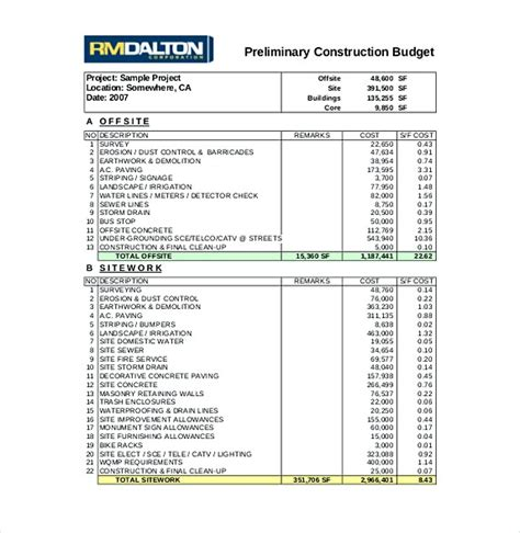 excel budget template mac