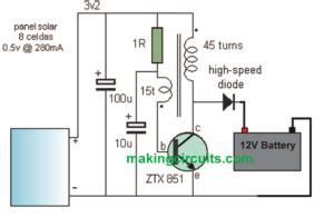 Solar Charger Circuit With Boost Converter Devices