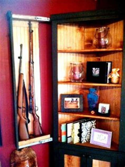 hidden gun cabinet shelf woodworking projects plans