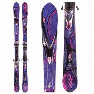 New 2012 K2 Superfree Skis with Bindings Purple Pink Black