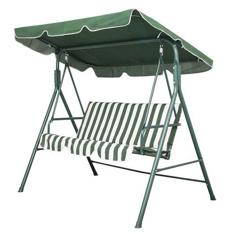 garden patio metal swing chair seat 3 seater hammock bench