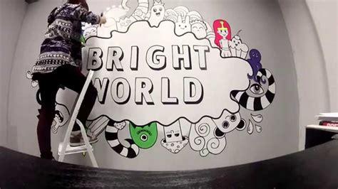 gambar doodle  dinding kamar populer  terlengkap