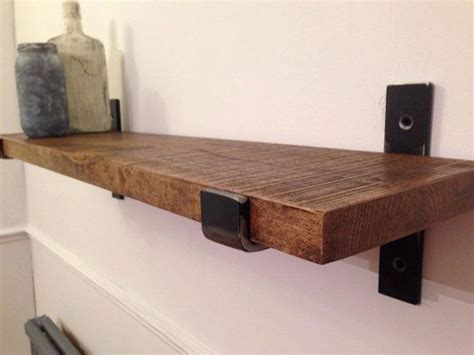 oak shelf brackets crafted solid oak and steel industrial