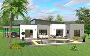 ophreycom maison cube plain pied moderne prelevement With surface d une maison 7 maison bois plain pied type loft nos maisons ossatures
