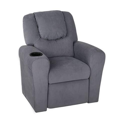 Reclining Armchair Fabric by Artiss Fabric Reclining Armchair Grey Furnitureoffers