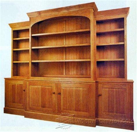 Classic Breakfront Bookcase Plans • Woodarchivist