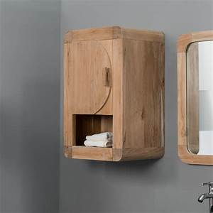 Plan De Toilette Bois : armoire de toilette en bois teck massif r tro ~ Dailycaller-alerts.com Idées de Décoration