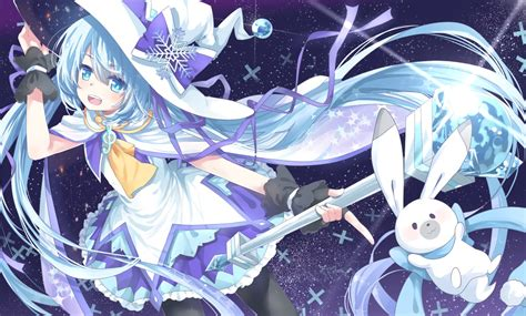 Anime Bunny Wallpaper - vocaloid bunny hatsune miku transistor vocaloid wand witch