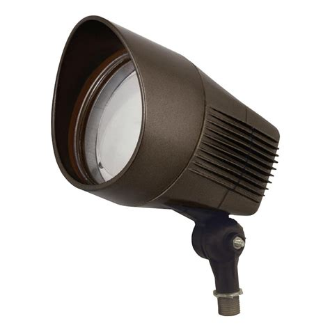 277 volt led flood lights hubbell 03199 21 watt 120 277 volt 4000k bronze led