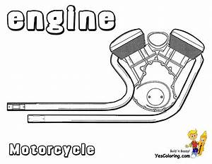 Cool coloring motorcycles motorcycles free coloring for Motorcycle engine