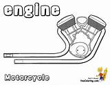 Motorcycle Coloring Motor Motorcycles Pages Cool Engine Printout Yescoloring Ktm sketch template
