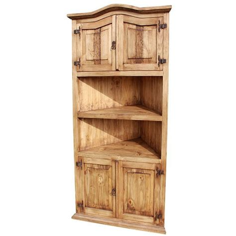 Rustic Pine Collection  Largecorner Bookcase Lib05