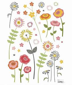stickers fleurs champetres decoration chambre d39enfant With affiche chambre bébé avec champ des fleurs avis