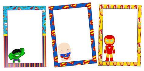 marcos invitaciones tarjetas o etiquetas de h 233 roes beb 233 s para imprimir gratis oh my