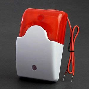 mini strobe siren 5v 12v 24v 220v dc ac security sound and light alarm siren ebay