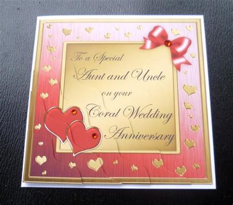 aunt uncle coral wedding anniversary side stacker