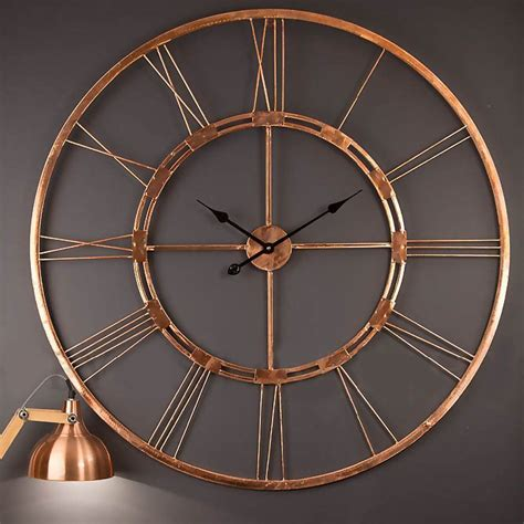 amazonsmile handmade large copper color metal wall clock