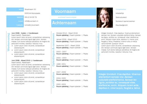 Layout Cv by Voorbeeld Layout Cv Hetmakershuis