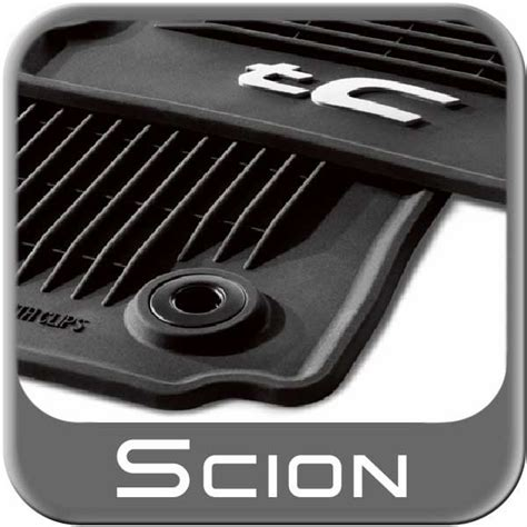 Scion Tc Floor Mats 2013 by 2011 2013 Scion Tc Rubber Floor Mats All Weather Charcoal