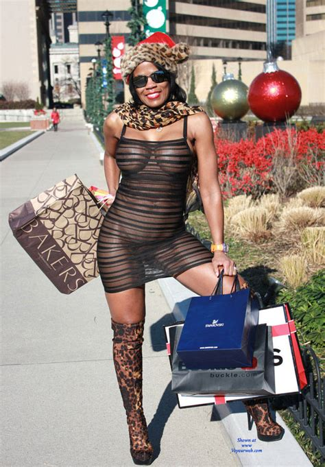 Nude Ebony In Holiday Shopping April 2015 Voyeur Web Hall Of Fame
