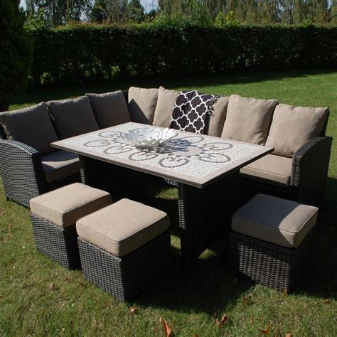 outdoor sofa dining set amazing modern outdoor dining set