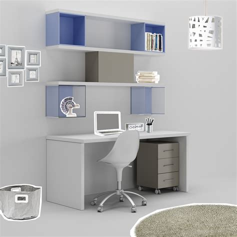 bureau ado avec niches d 233 co en m 233 thacrylate compact so nuit
