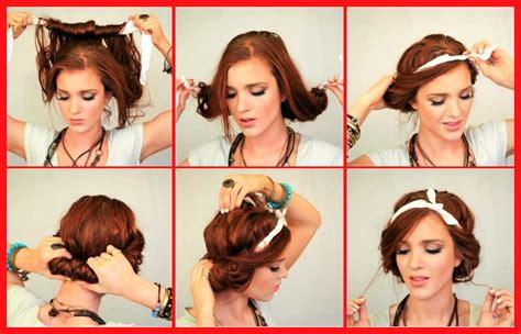 schoene einfache frisuren mit haarband anleitung zum selber