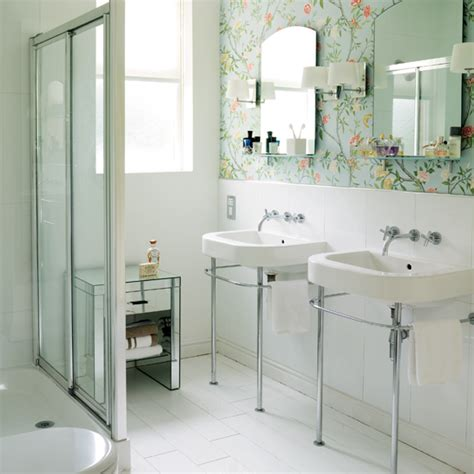 wallpaper in bathroom ideas modern wallpaper for bathrooms ideas uk
