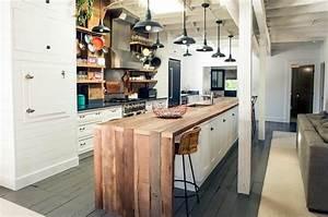 Idee lampe cuisine avec ilot central ideeco for Idee deco cuisine avec ilot central cuisine gris