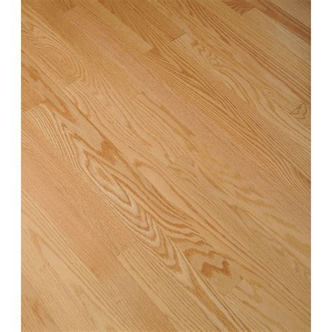 hardwood flooring prefinished shop bruce bayport strip 2 25 in w prefinished oak hardwood flooring natural at lowes com