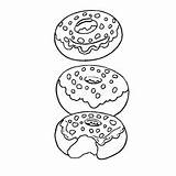 Coloring Donut Donuts Pages Clipart Sprinkle Momjunction Webstockreview Yummy Apollinaire Leanna Toddler sketch template