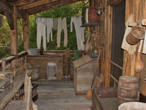 Primitive West Porch Need Have Wooden Bin Over Coal