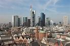 Frankfurt, Germany - Old Town and skyscraper skyline ...