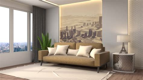 building  modern living room stock footage video