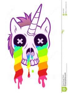 Cartoon Unicorn with Rainbow
