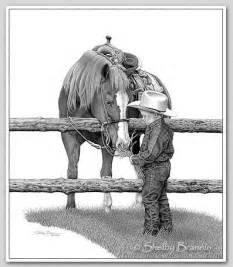 Western Pencil Cowboy Drawing