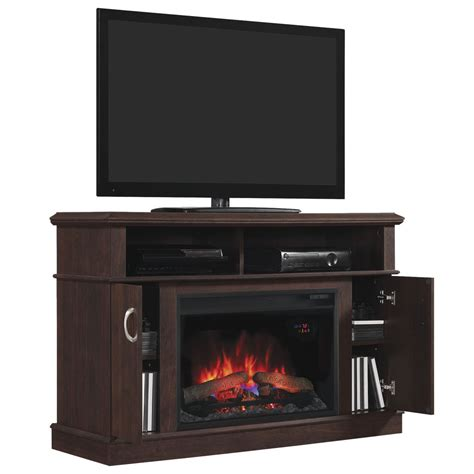 dwell tv stand  electric fireplace mm pc