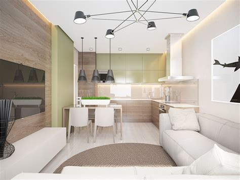 small apartment layout  natural elements interior design ideas