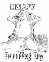 Groundhog Coloring Printable Pages Happy Print Sheets Colouring Clipart Woodchuck Getcolorings Animal Pdf Activities Library Exquisite Decoration Results sketch template