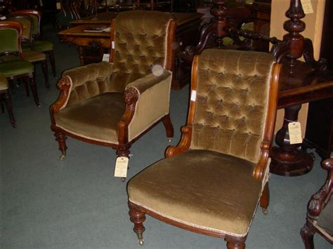 pair oak grandfather grandmother chairs c1860