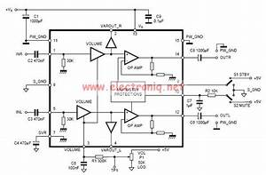 Tda7496 2x5 Watts Stereo Class Ab Audio Amplifier Circuit