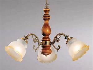 Lustre En Bois : luminaire classique pour sejour lustre bois n 3 sampa ~ Teatrodelosmanantiales.com Idées de Décoration