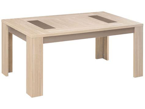 table cuisine chene table rectangulaire 180 cm atlanta coloris chêne clair