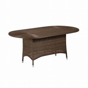 Table Resine Tressee : table de jardin ovale en r sine tress e brin d 39 ouest ~ Edinachiropracticcenter.com Idées de Décoration