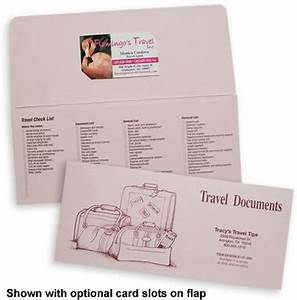 Travel document organizers for Travel document holders for travel agents