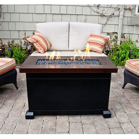 patio propane fire pit table monterey propane fire pit patio table c chef fp40