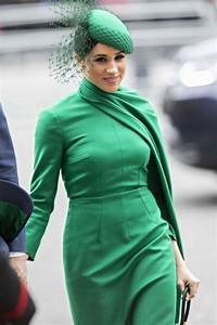 Meghan Markle Green Midi Cape Cocktail Party Celebrity