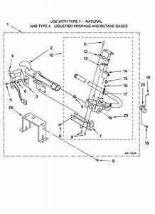 8576353 Burner Assembly Diagram  U0026 Parts List For Model