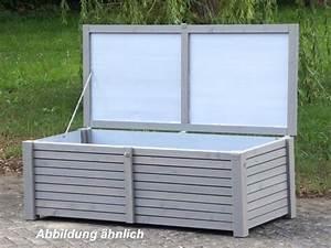 Holz Versiegeln Wasserdicht : auflagenbox kissenbox holz l wasserdicht atmungsaktiv oberfl che transparent grau made ~ Orissabook.com Haus und Dekorationen